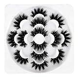 Newcally False Eyelashes Faux Mink Lashes 7 Pairs Long Dramatic Fluffy Volume Lashes Pack Wholesale