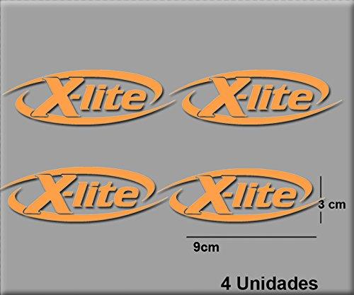 Ecoshirt 9K-QFFT-CM4M Aufkleber Stickers X-Lite R66 Aufkleber Decals Autocollants Adesivi, Orange