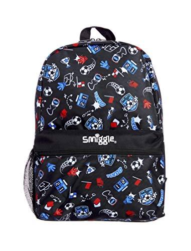 Smiggle Backpack - Giggle (Black Football Crazy)