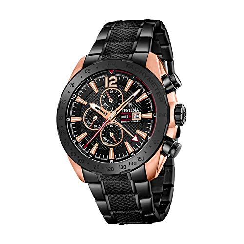 Festina Herren Chronograph Quarz Uhr mit Edelstahl Armband F20481/1