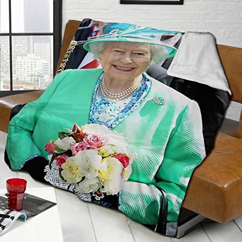 zblin Hm Queen Elizabeth Ii Ireland Boutique Blankets Soft Comfortable Plush Microfiber Flannel Blanket 80x60inch