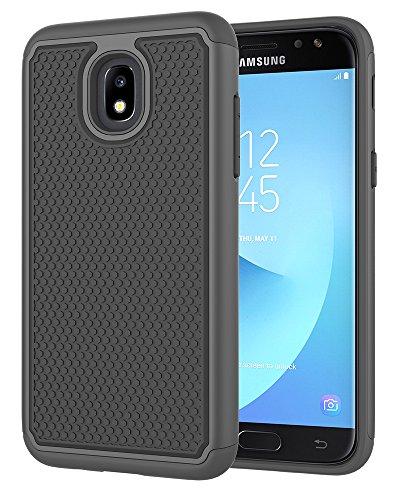Galaxy J7 2018 Case,Galaxy J7 Refine Case,Galaxy J7 Star Case,Galaxy J7 Crown Case,Galaxy J7 V 2nd Gen Case,J7 Aura Case,Asmart Defender Cover Protective Phone Case for Samsung Galaxy J7V 2018,Black