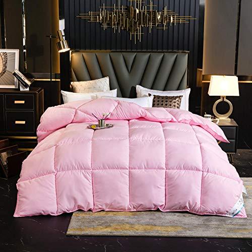 Hahaemall Duvets & Duvet Covers White goose downfilled Winter Duvet Quilt - Classic -Anti-allergy - Cooling - Duvet Quilt-pink_200x230cm-2500g
