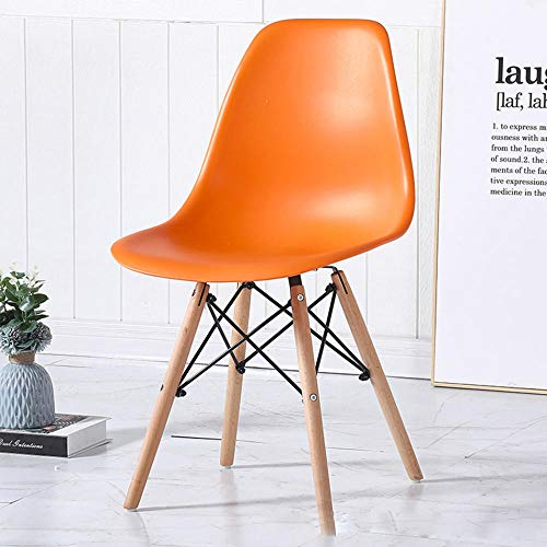 NSYNSY Sedia con Schienale per Trucco per la Casa, Sedia Moderna Semplice Multicolore in Legno Massello Nordico personalità Sedia da Pranzo Sedia Eames