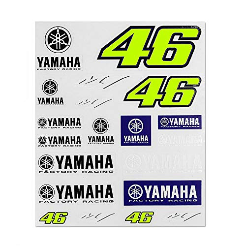 Valentino Rossi Yamaha Dual-Racing, Herren Big Set Aufkleber, Multi, Unique
