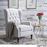 Christopher Knight Home Walter Fabric Recliner, Light Grey