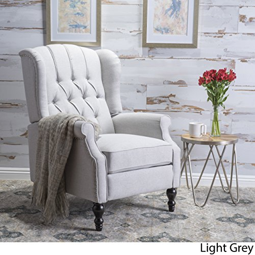 Christopher Knight Home Elizabeth Recliner Chair Tufted Light
