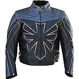 Classyak ist, wird Triumph Herren Echt Leder Motorrad Jacke Gr. XX-Large, Cow Black