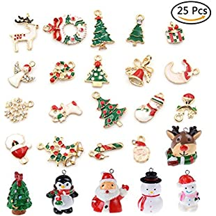 JETTINGBUY Christmas Pendants Charms Bracelet Necklace Jewelry Making, Birthday, Christmas Day, Thanksgiving Day Gift Children, Pack of 25 (Style 2):Downloadlagump3gratis