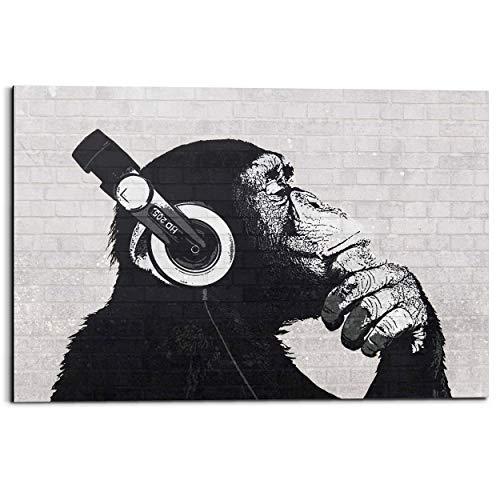 REINDERS Schimpanse Graffiti - Wandbild 90 x 60 cm