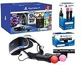 PlayStation VR2 Méga Pack V2 Astro Bot + Skyrim V + Resident Evil 7 + Everybody's Golf + VR Worlds + Paire Move Twin Controllers Caméra V2 inclus Modèle CUH-ZVR2 - Nouveau modèle avec écouteurs intégrés, câblage simplifié et processeur d'image HDR co...
