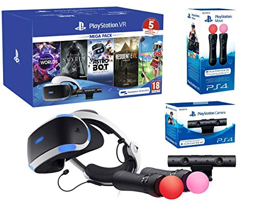 PlayStation VR2 MegaPack 2 Astro Bot + Skyrim V + Resident Evil 7 + Everybody's Golf + VR Worlds + Twin Move Controllers + Kamera V2