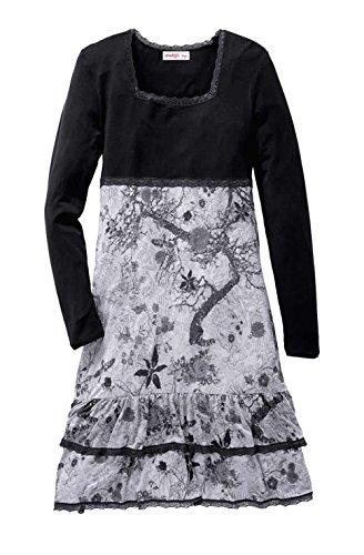 Sheego Kleid mit Spitze schwarz-grau Größe 40