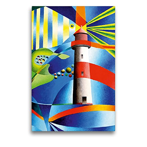 Calvendo Lienzo prémium de 50 x 75 cm, de Alta Formato, Faro List Ost, Sylt, Cuadro de Alta definición sobre Bastidor, premontado en Fieltro, impresión en Lienzo de Gerhard Kraus Arte