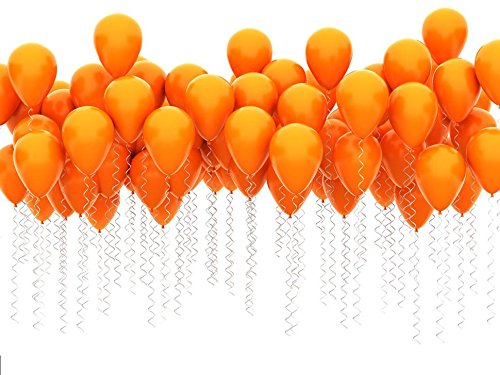 King's deal 12 inches100 Pcs Latex Balloons For Party Supplies Decorations Balloon -Orange
