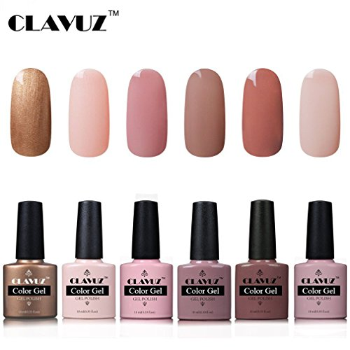 Esmalte Semipermanente de Uñas en Gel UV LED Esmalte de Uñas 6pcs Kit Uñas de Gel Manicura Soak off 10ml de Clavuz - 025