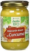 Sans additif Fabriqué en France Biologique Moutarde Douce au Curcuma Pot en verre de 210g