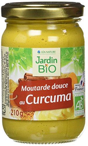 Jardin Bio Moutarde Douce au Curcuma 210 g - Lot de 3