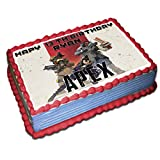 Apex Personalized Cake Toppers 1/4 8.5 x 11.5 Inches Birthday Cake Topper