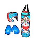 Size:- Height- 18 inch, Width - 6.5 inch, filled with cotton. Age 3 year and above This Children Kids Boxing Set includes everything you need to get started - a punching bag, and a pair of slip-on gloves It is ideal for giving as a gift as it exercis...