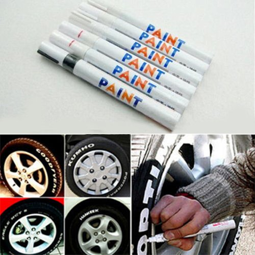 Verlike Paint Marker Pen, 12 Farben Wasserdicht Auto Reifenprofil Rubber Metal Permanent rot