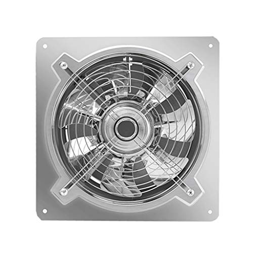 Ventilador de ventilación doméstico Acero Inoxidable Extintor De 10 Pulgadas, Concina Potente Extintor Ventilación Industrial Extractor 250mm LITING