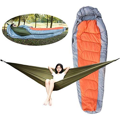 TYUXINSD Calentar Bolso de Dormir para Acampar Muti-Funcional Desmontable Hamaca Saco de Dormir (Color : Orange, Size : Free Size)
