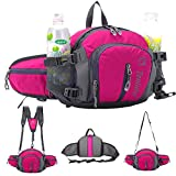 SINOKAL Multifunctional Military Style Canvas Waist Pack Bag Water Resistance Fanny Packs with Water Bottle...