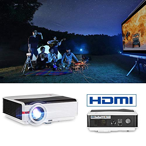 WYJW High Definition Multimedia Projector, HD 1080P Projector Home Theater met HDMI USB VGA, compatibel met Game Consoles DVD PC Laptop Fire TV Outdoor Entertainment LCD LED Proyector