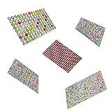 Piedras de colores autoadhesivas, 1460 pedrería autoadhesiva, piedras preciosas autoadhesivas de color acrílico, varias formas de piedras preciosas de cristal, 5 hojas
