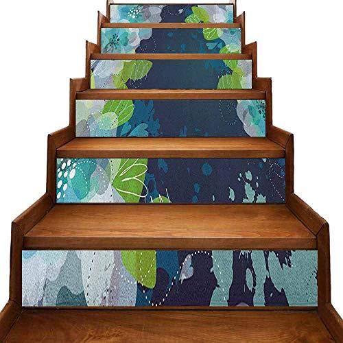 JiuYIBB - Ancla circular impermeable para decoración del hogar, diseño de ancla de Windrose, composición náutica, color azul marino y blanco