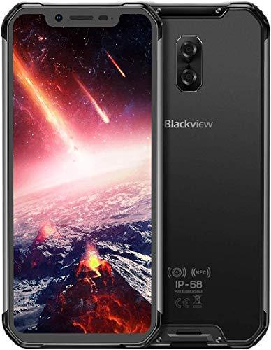 Blackview BV9600 PRO-Android 8.1 4G LTE屋外スマートフォン6.21インチ19:9 FHD AMOLEDディスプレイ(超狭額縁)、Helio P60 6GB + 128GB、5580mAhバッテリー、IP68 / IP69K防水/防塵、NFC