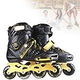Rendimiento Inline Skates, Unisex Rollerblade Patines Línea con Profesional PU Ruedas, Resistentes Al Desgaste para Mujeres, Hombres Y Jóvenes,38