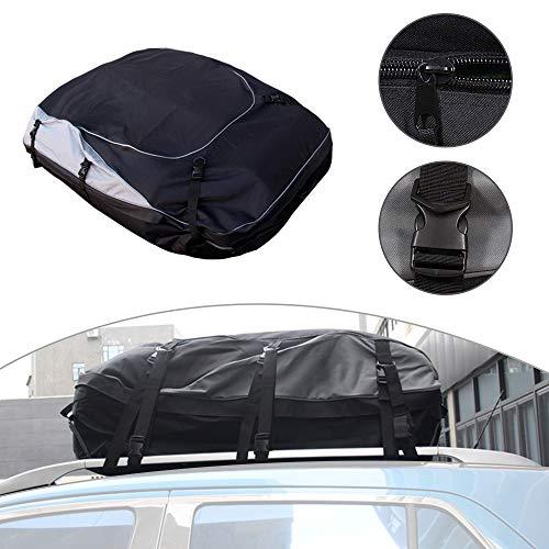 Auto Bolsa de Carga Impermeable para Techo de automóvil Color Negro para Mondeo Mustang S-MAX Galaxy Touraeo Courier(S Size)