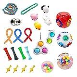 Fidget Toy Set, Fidget Toy Pack Barato, Juego de juguetes sensoriales Juego de herramientas para aliviar el estrés y antiestres Paquete de juguetes de terapia sensorial Cubo para niños Adultos