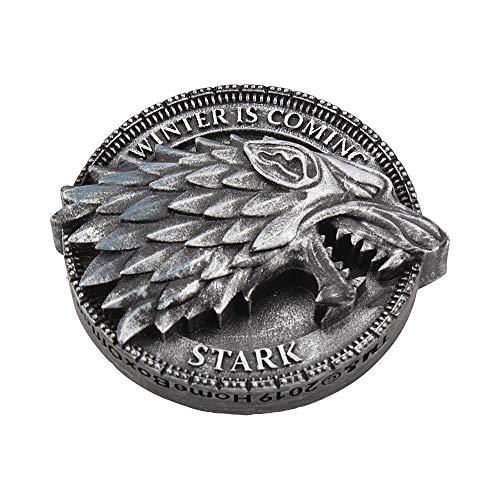 Nemesis Now 6cm House Stark Magnet 6 cm Game of Thrones, Silber