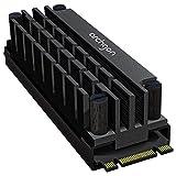 archgon HS-1110 Disipador para el refrigerador M.2 SSD 2280 PCIe NVMe/SATA, 20 mm de Altura, Aluminio, Almohadilla térmica 2X, Montaje con Tornillos, pasivo, Negro