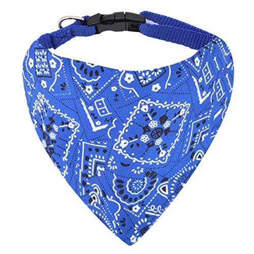 Hunde Bandana Kopftücher Haustier Halstuch Einstellbare für Welpen Kleine Hund Katze (M, Blau)