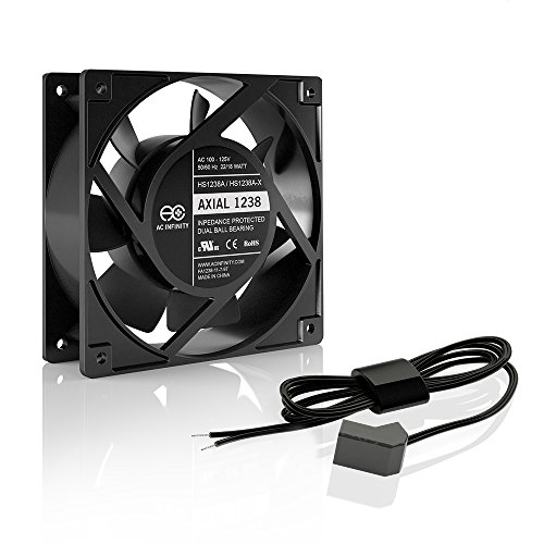 AC Infinity AXIAL 1238W, Muffin Fan, 120V AC 120mm x 38mm High Speed, for DIY Cooling Ventilation Exhaust Projects