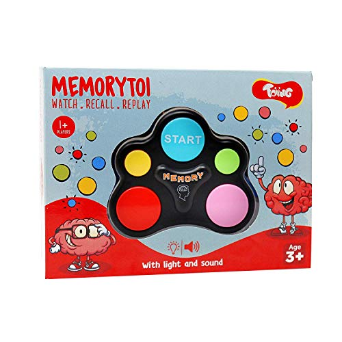 Toiing Memorytoi – Electronic Memory Game Great Travel Toy for Kids amp Teaches Persistence 3 Year Old and Above