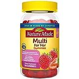 Nature Made Multivitamin for Her Gummies, Multivitamin for Women, 13 Key Nutrients to Help Support Immune & Bone Health, Energy Metabolism, Excellent Source of Folic Acid, 150 Multivitamin Gummies