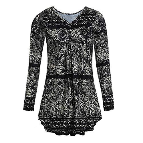 2018 dames mode zomer herfst vrouwen V-sjaal hals jongens chique knoop voorzijde geplooid comfortabele losse tuniek top shirt blouse