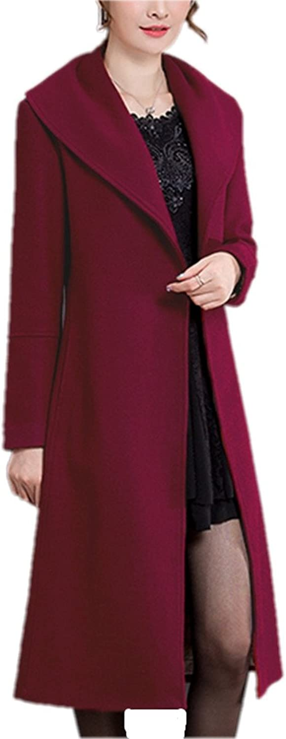 Winter Woolen Coat Women Fashion HighEnd Elegant Long Slim Women Winter Jacket