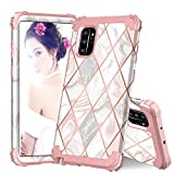 Galaxy Note 10 Plus Case, ZHK Marble 3 Layer Heavy Duty Shockproof Case Hard PC+Silicone Rubber Hybrid Sturdy Armor Full-Body Protective Case for Samsung Galaxy Note 10 Plus 5G(2019)-Rose Gold