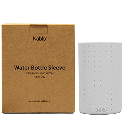 Protective Silicone Sleeve For Kablo Glass Water Bottles (32 oz and 21 oz), Non-Toxic & Dishwasher Safe