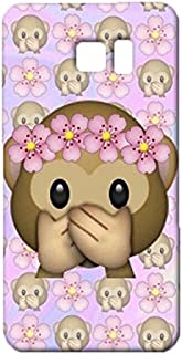 Samsung Galaxy Note 5 Case,Cute Lovely Monkey Emoji Case,Premium Quality 3D Flexible Phone Case for Samsung Galaxy Note 5
