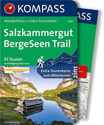 KOMPASS Wanderführer Salzkammergut BergeSeen Trail: Wanderführer mit Extra-Tourenkarte 1:66.000, 61 Touren, GPX-Daten zum Download.