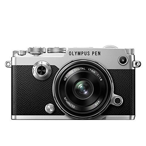 Olympus PEN-F Kit, Micro Four Thirds Systemkamera (20,3 Megapixel, 5-Achsen Bildstabilisator, elektronischer Sucher) + M.Zuiko Digital 17mm F1.8 Objektiv, lichtstarke Festbrennweite, silber/schwarz