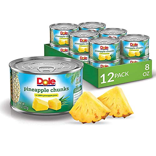 Dole Pineapple Chunks in Juice, 8 Ounce Cans (Pack of 12)