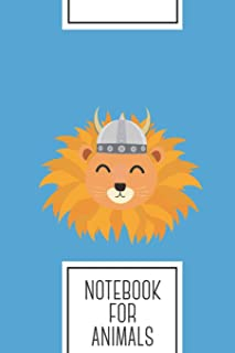 Notebook for Animals: Lined Journal with Viking lion head Design - Cool Gift for a friend or family who loves wild presents!   6x9